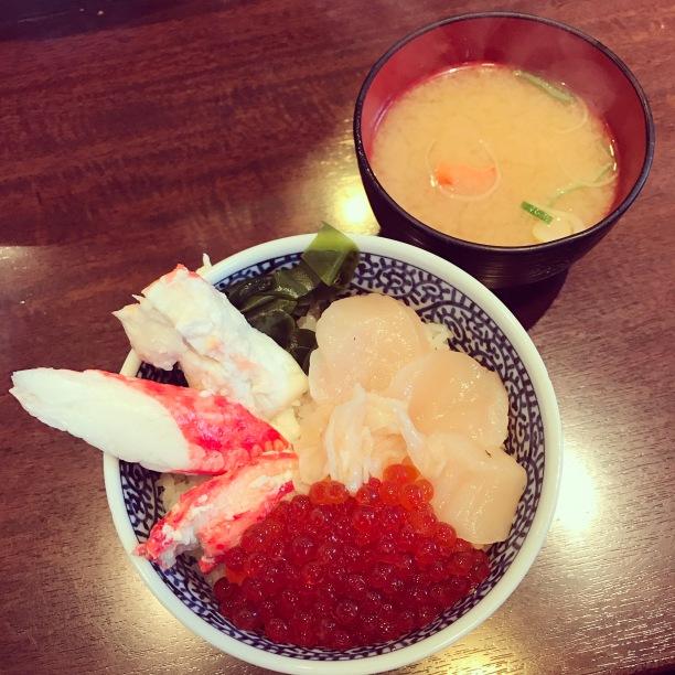 My kaisendon - Hotate, Kani, Ikura